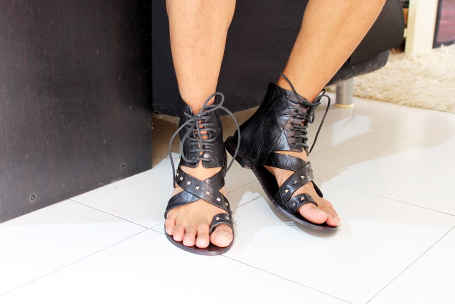 Diesel Anibal H, studded sandals, diesel black gold sandals, gladiators, stud, studded shoes