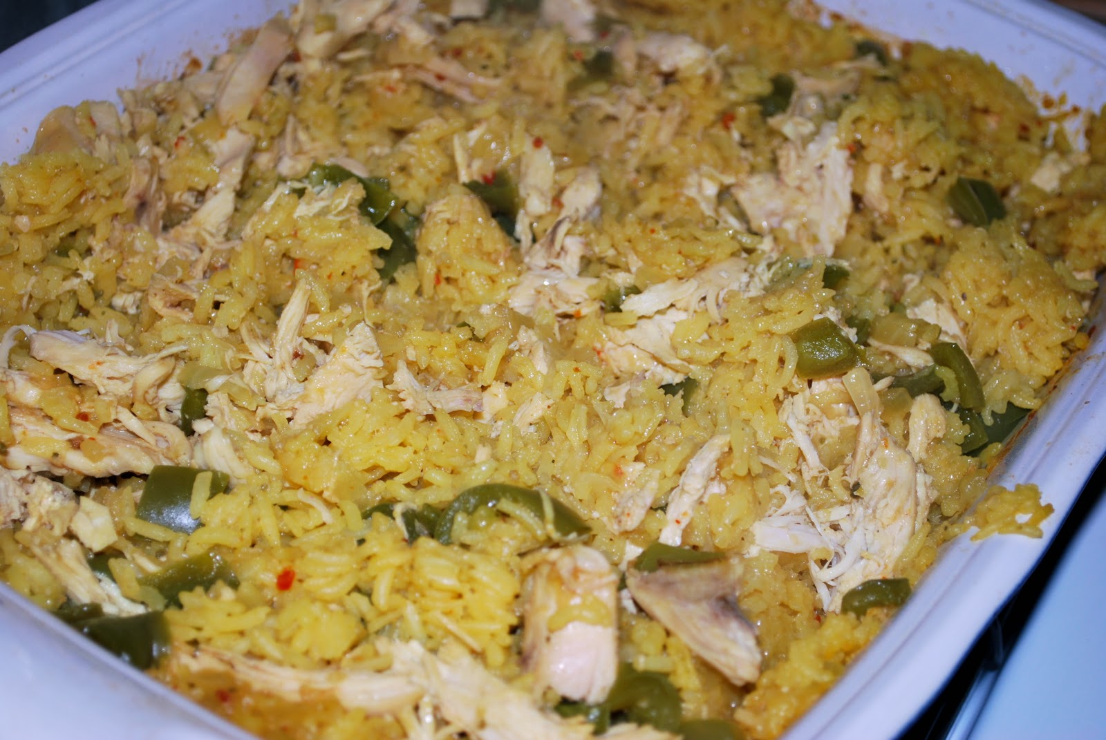 Wise Cook: Easy Baked Chicken and Yellow Rice