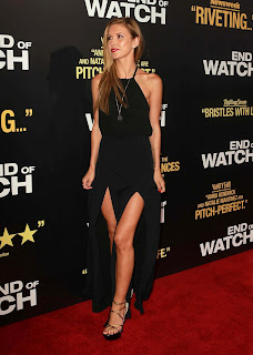 Audrina Patridge shows off her great pair of legs in a sexy black dress