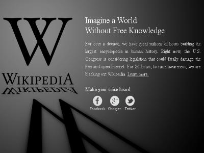 USA wollen freies Internet verbieten. Wikipedia offline ...