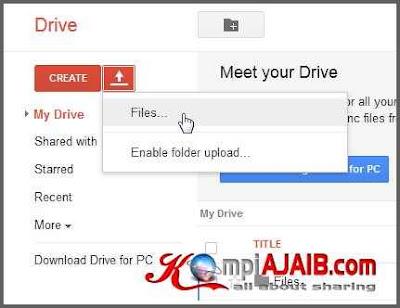 Cara Upload File, HTML, CSS, Javascript Di Google Drive 1