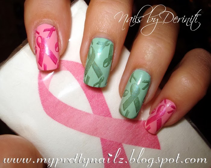 My Pretty Nailz Cancer Awareness Nail Art Breast Cancer Awareness