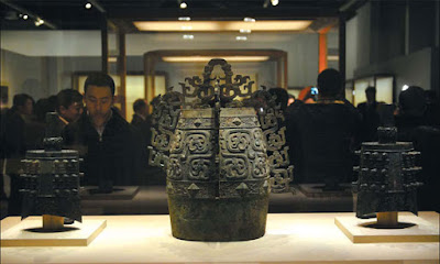 Chinese Exhibition of Chinese Bronzes Found By Villagers over 35 years