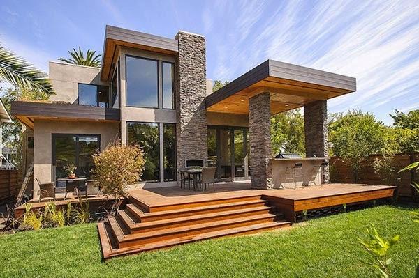 model teras rumah masa kini desain arsitektur rumah