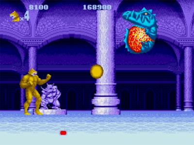 Le niveau 4 d'Altered beast propose d'incarner un tigre-garou pour combattre le boss dragon
