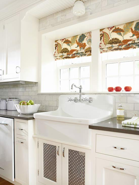 2014 perfect window treatments styles ideas decorating idea for Fabric shades for kitchen windows