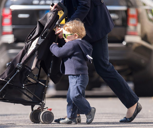 New photo of Prince George. Prince George seen out in London last week with his nanny.