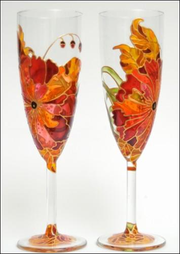 glass+painting فن الرسم على الزجاج