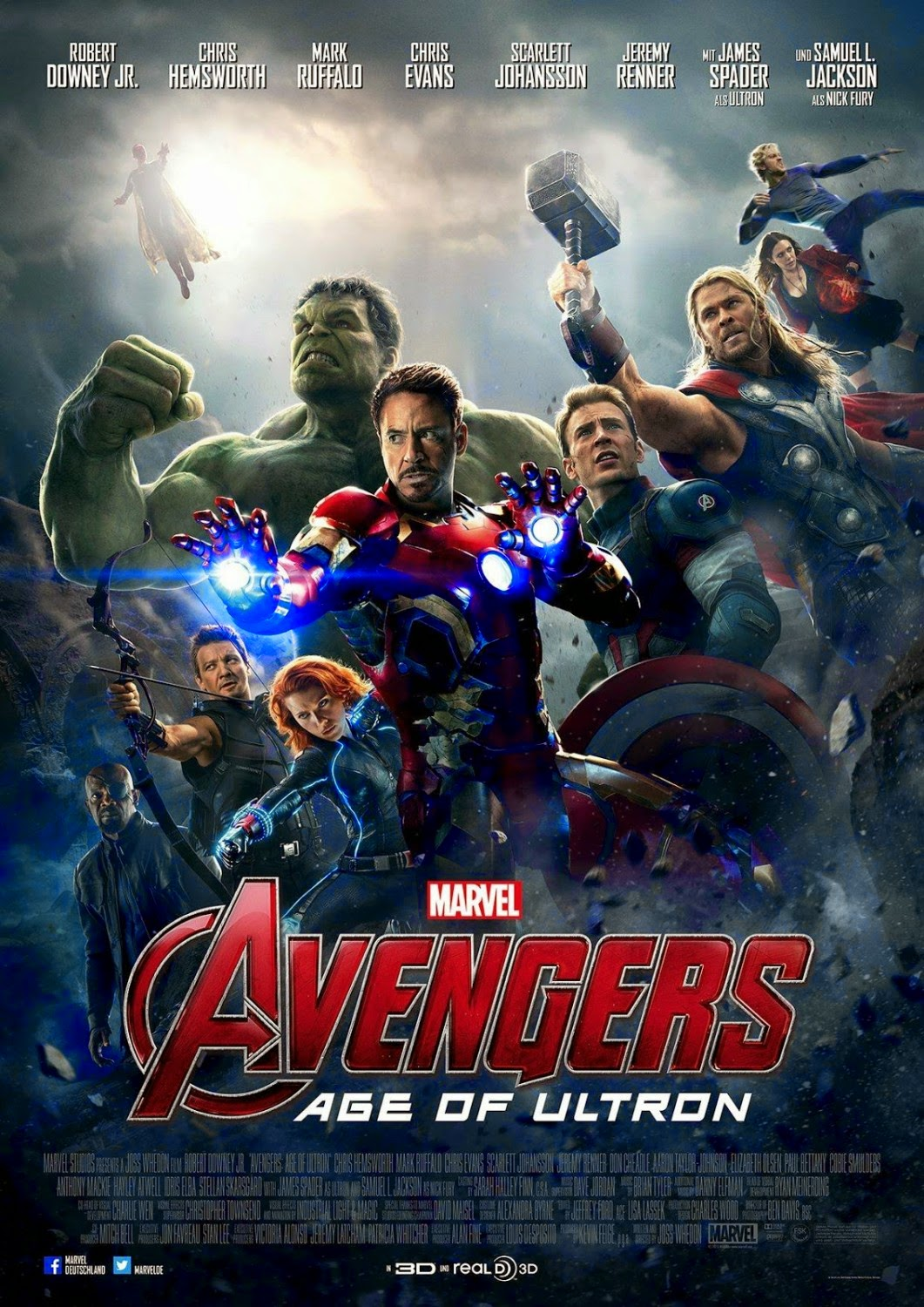 Marvel's Avengers Age of Ultron Final International Theatrical One Sheet Movie Poster