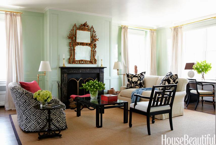 Go green michaela noelle designs Living room ideas with light green walls