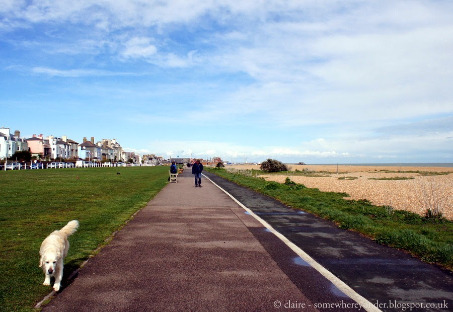 Walking along the sea front - Deal, Kent, UK