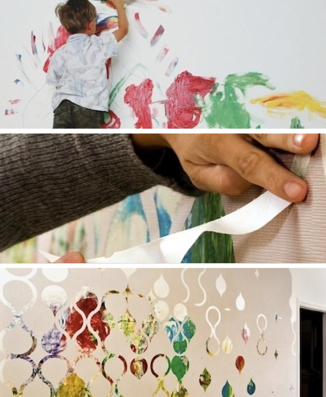 100 tonos de verde znak papel pintado - Papel pintado adhesivo ...