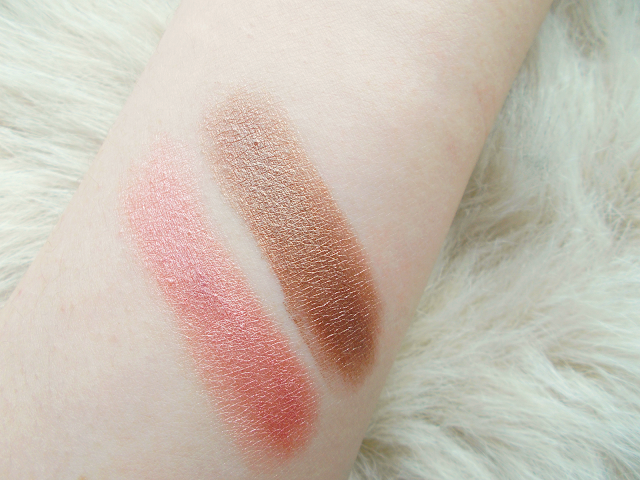 A review of the Maybelline 24hr Color Tattoos in 'On and On Bronze' & 'Pink Gold' with swatches!