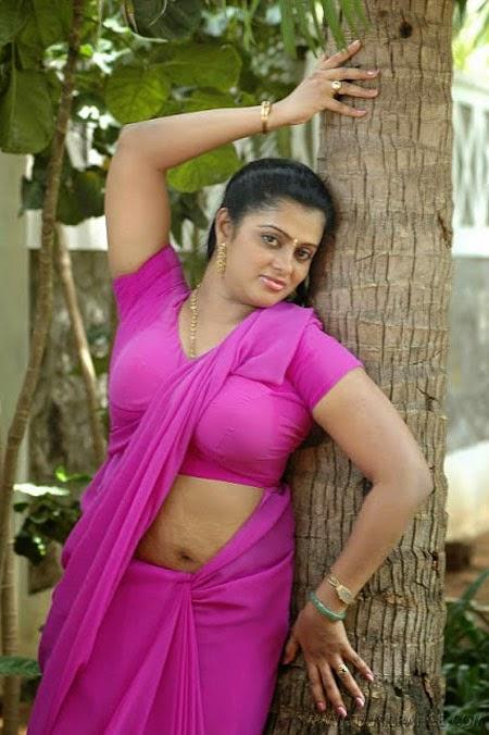Sexy Indian Bhabhi In Pink Saree
