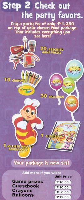 Step 2 for Jollibee party brochure