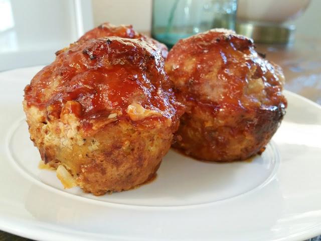 Mini BBQ Turkey Meatloaves