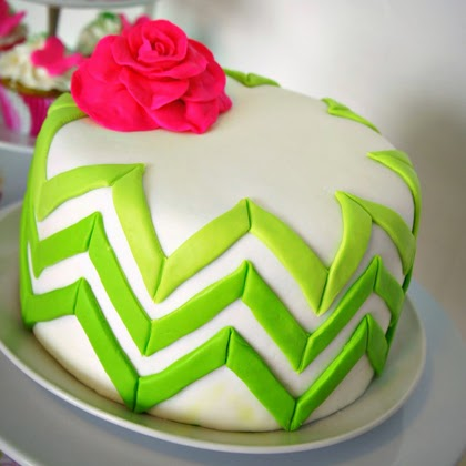Ombre Chevron Cake Tutorial