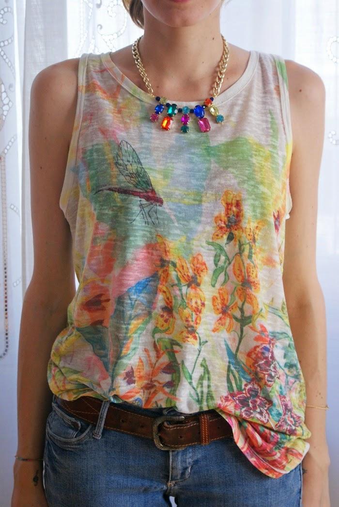 statement necklace diy fashion rhinestones