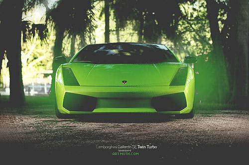 Green Lamborghini Wallpaper