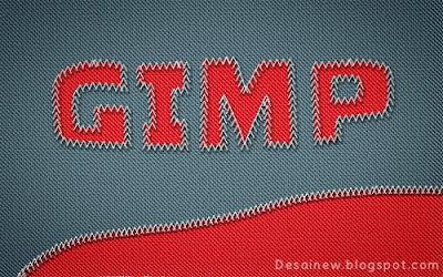 Tutorial desain grafis Teks atau tulisan dengan efek jahitan di gimp