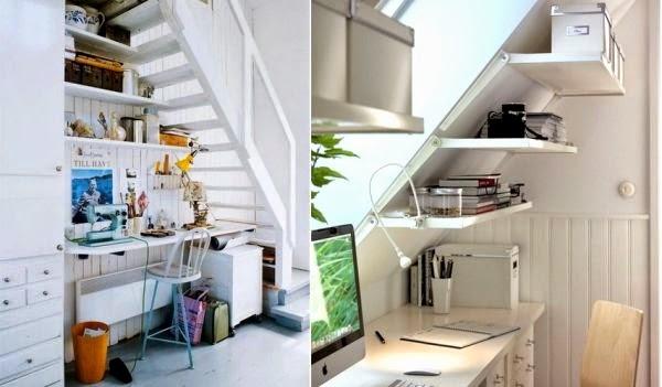Hacer Baño Bajo Escalera:Una opción es colocar un escritorio o una mesa para computo y de esa