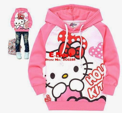 Gambar Baju Jaket Hello Kitty Lengan Panjang Pink Terbaru