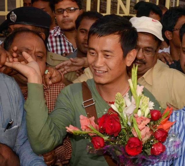 Trinamool Congress candidate for the Lok Sabha Darjeeling seat, former India football captain Baichung Bhutia