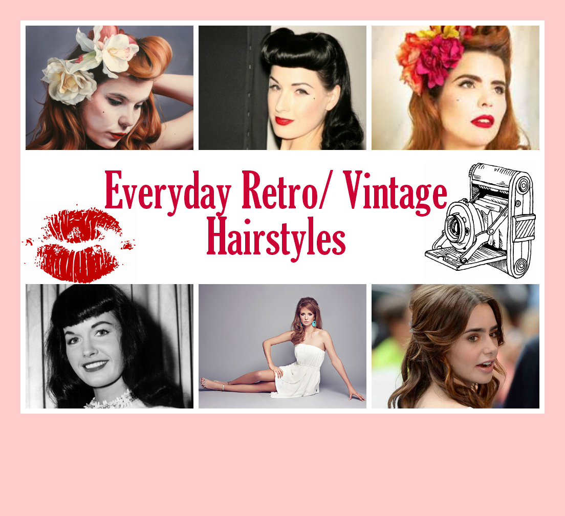 Sparkle Fire Everyday Retro Vintage Hairstyles