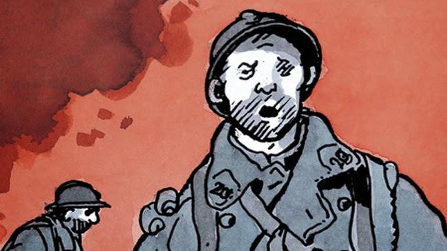En 1914 empieza una nueva era de barbarie sin precedentes -viñeta de Jacques Tardi