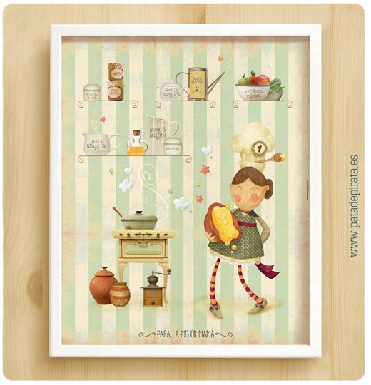Ilustraci n orlas invitaciones bautizo comuni n - Laminas decorativas para cocinas ...