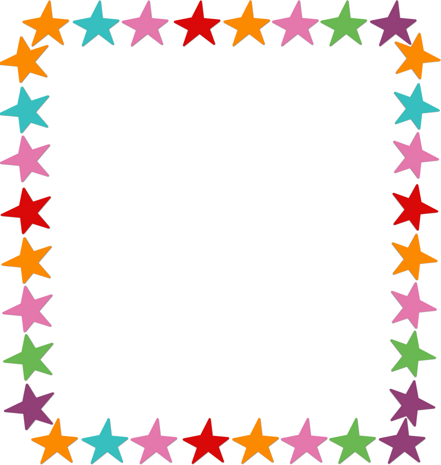 Colorful Stars Frame Related Keywords - Colorful Stars ...