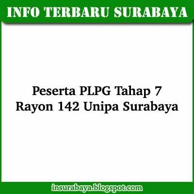 Daftar Nama Peserta PLPG 2013 Tahap 7 Rayon 142 Unipa Surabaya