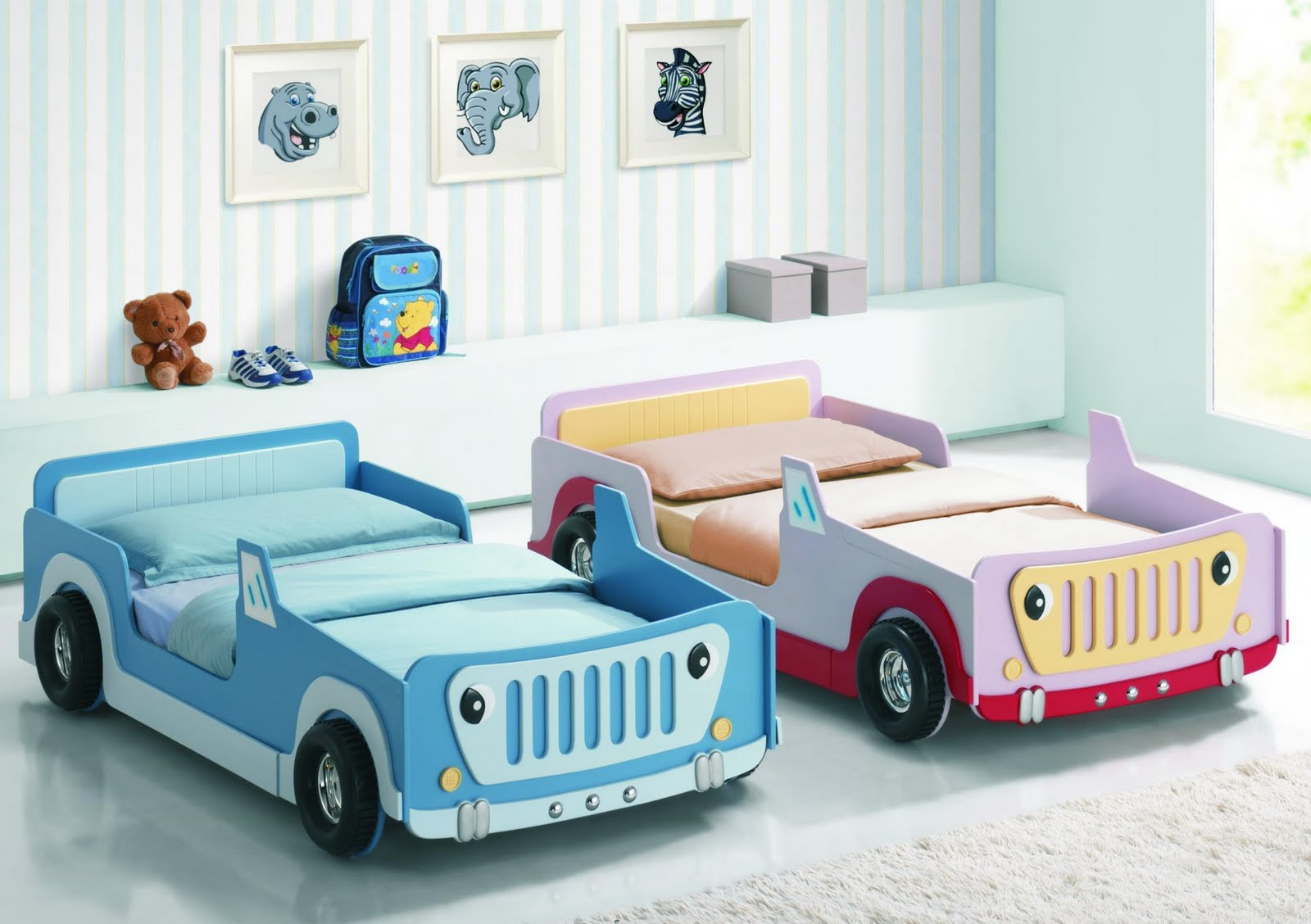 The Joseph Jeep Bed Is A Colourful Childrens Which Will Help Bedtimes Become More Enticing With Real Look Wheels For Children To