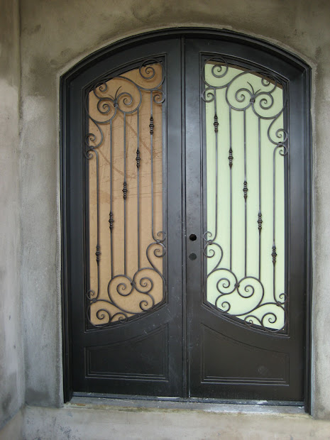 Wrought Iron Front Entry Doors