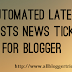 Automated Latest Posts News Ticker