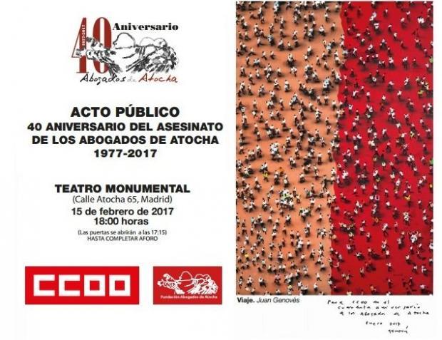 15 febrero Acto Homenaje Abogados Atocha