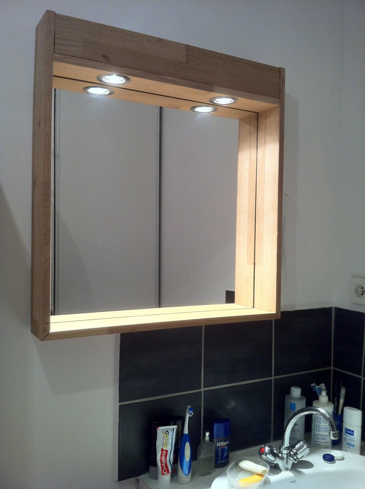 Electrons et copeaux cadre de miroir en ch ne for Decouper un miroir