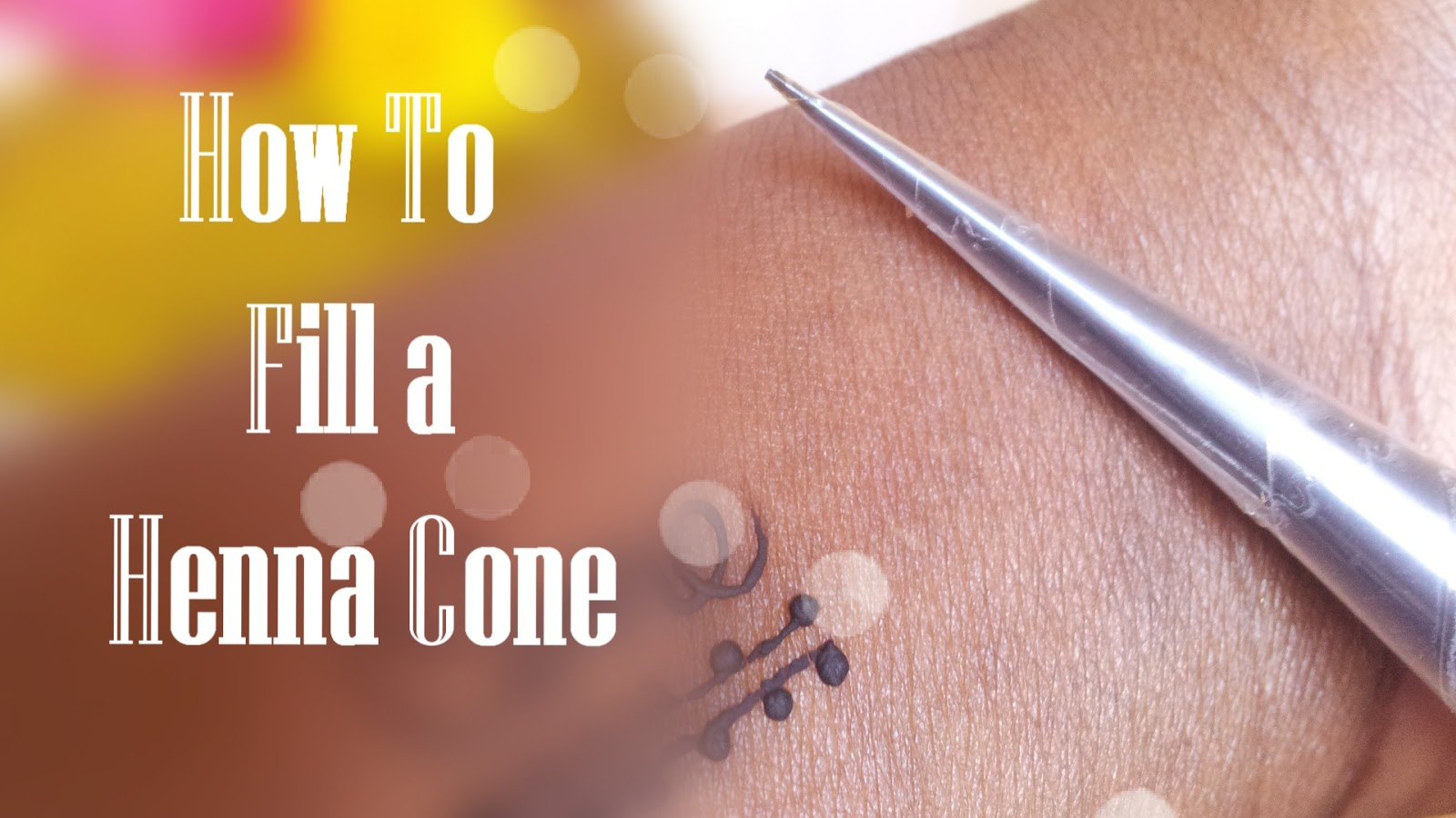 Henna Royals How To Fill And Close A Henna Cone