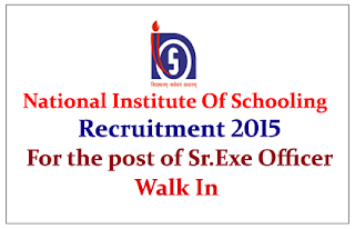 National Institute of Open Schooling Hiring for the post of  Senior Executive Officer 2015