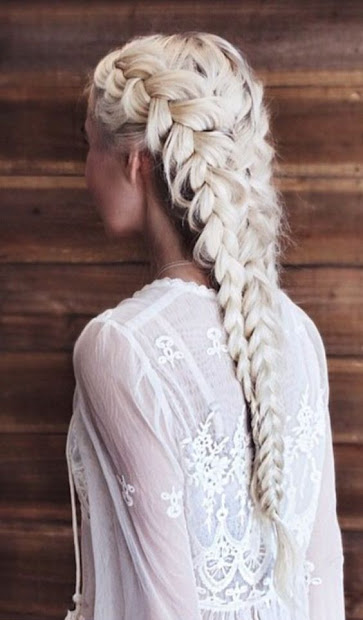 awesome braids in black and white