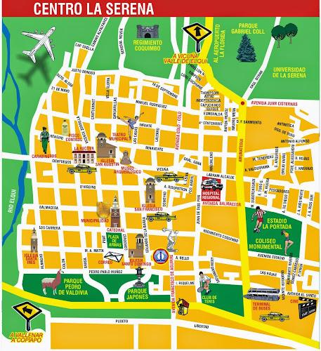 Mapa do centro de La serena – Chile