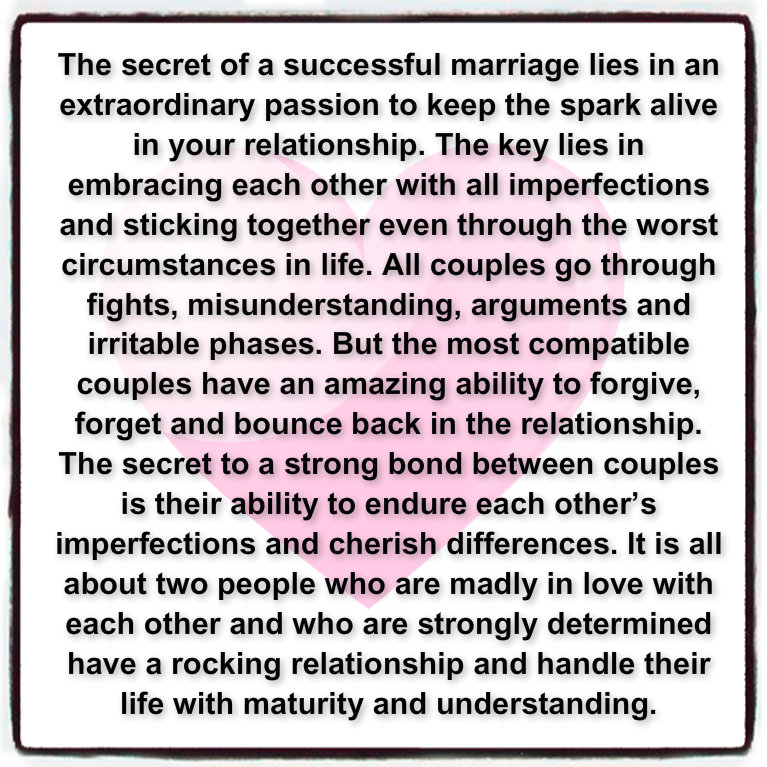 Awesome Quotes: The Secret Of A Successful Marriage