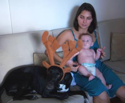 Ninah no Natal de 2010.
