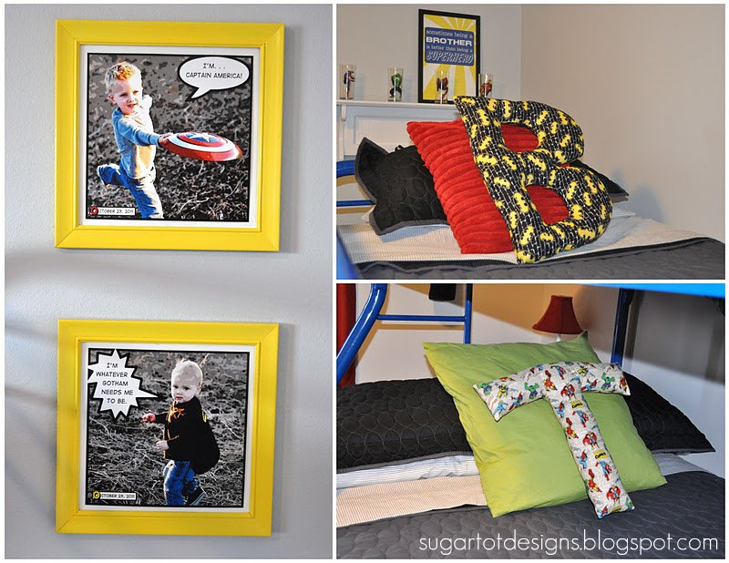 Remodelaholic Boys Superhero Bedroom