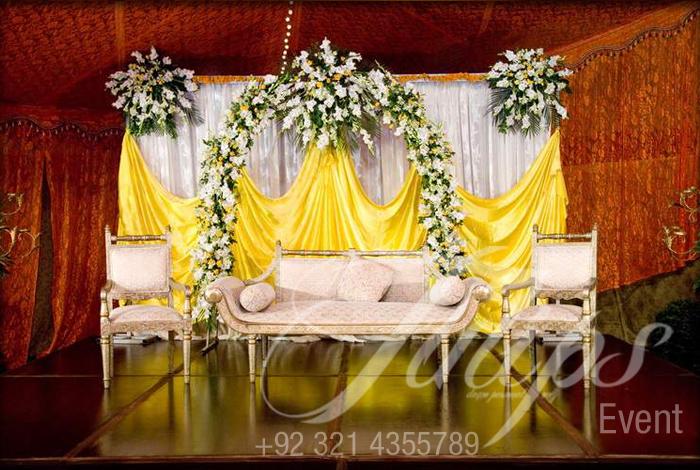 Mehendi Stage Decoration   Best Pakistani Wedding Mehendi Stages