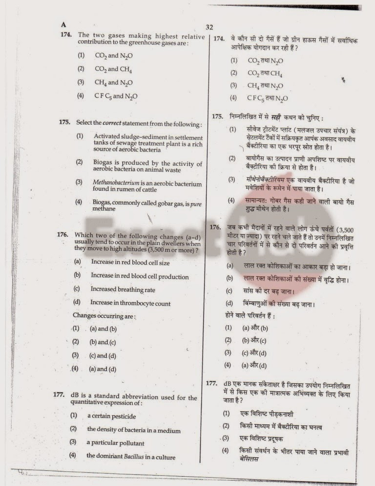 AIPMT 2010 Exam Question Paper Page 32