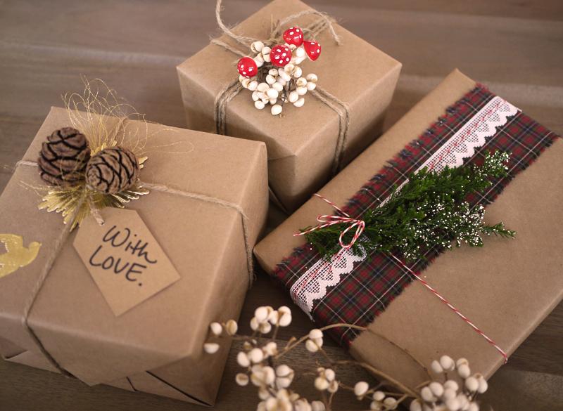 Recicla inventa el papel kraft para envolver regalos - Envolver regalos con papel de seda ...