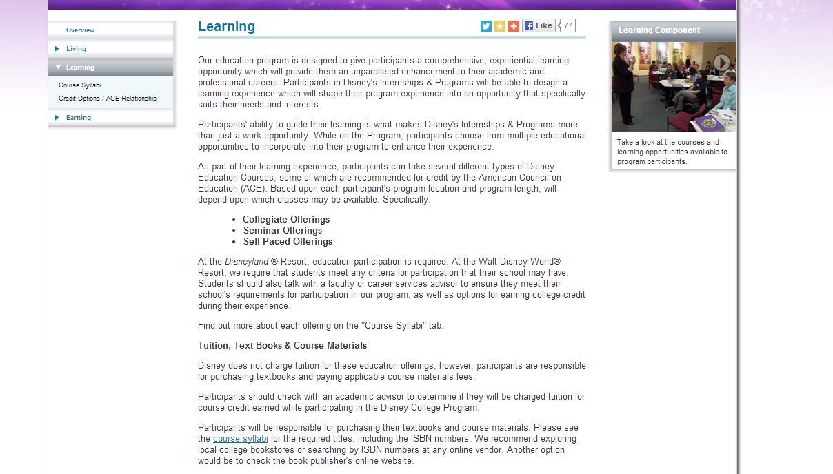 List Disney College Program Resume