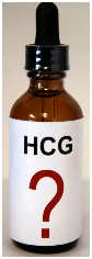 Bottle Of HCG With Question Mark On Label
