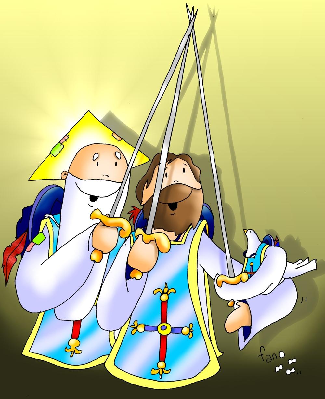 EDUCACIÓN RELIGIOSA: SANTÍSIMA TRINIDAD EN DIBUJOS DE FANO